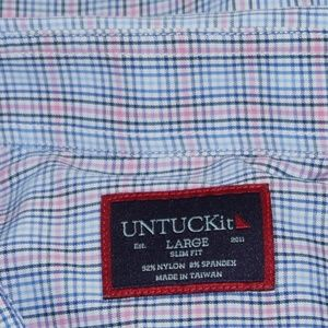 UNTUCKit Shirts - UNTUCKit Men's Long Sleeve Plaid Shirt Size L